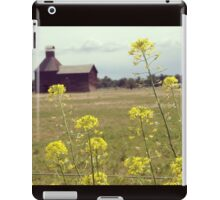Yellow Wildflowers with Barn in the Distance  iPad Case/Skin
