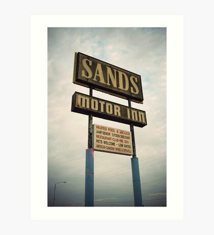 8000 miles USA : On the road 1 Art Print