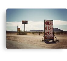 8000 miles USA : On the road 2 Canvas Print