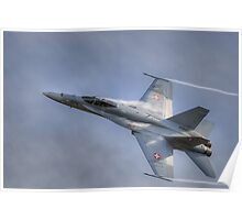 FA-18 Hornet - Swiss Air Force  Poster