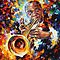 Louis Armstrong - original art oil painting by Leonid Afremov by Leonid  Afremov