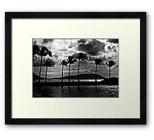 Moonlight Over Maunalua Bay Framed Print