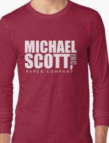 Michael Scott Paper Company Long Sleeve T-Shirt