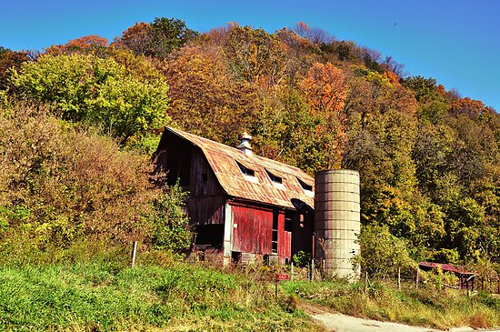 Barn Near Potosi, Wisconsin by James Watkins