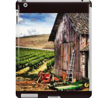 Rustic Barn in Wine Country with John Deere Equipment  iPad Case/Skin