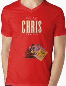 CHRIS TRAVIS Mens V-Neck T-Shirt
