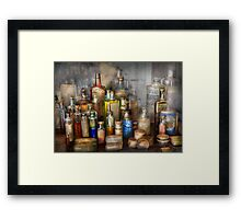 Apothecary - For all your Aches & Pains  Framed Print