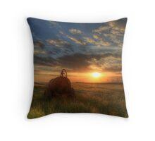 Sundown over the Romney Marsh Throw Pillow