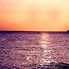 Romantic Sunset over the Violet Sea by photographyes