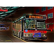 City bus reflections  Photographic Print