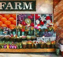 Store Front - The flower stand by Mike  Savad