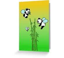 Flying pandas Greeting Card