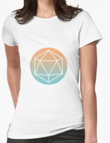 Icosahedron outline Womens Fitted T-Shirt