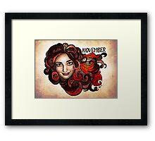 Amy of November Framed Print