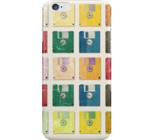 Vintage Computer Diskettes  iPhone Case/Skin