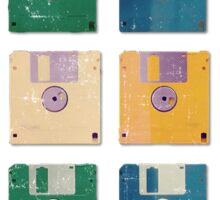 Vintage Computer Diskettes  Sticker