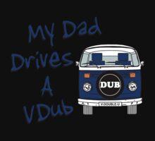 My Dad Drives a VDub (Blue) Kids Tee