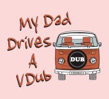 My Dad Drives a VDub (Orange) Kids Tee