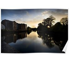 UpRiver On The Lee By The Maltings Poster