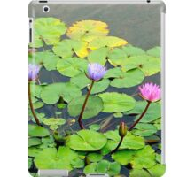 Asian water lillies iPad Case/Skin