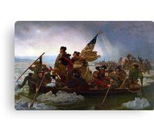 Air Mag Washington Crossing The Delaware  Canvas Print