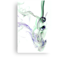Inky smoke Canvas Print