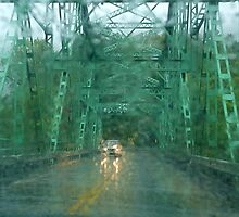 Thru the windshield in a blinding rain, New Hampshire by RonnieGinnever