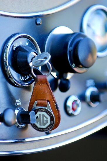 1948 MG TC Key Ring 1 by Jill Reger