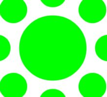 Green Polka Dot Pattern Sticker