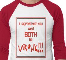 Both Wrong (Red/Black) Men's Baseball ¾ T-Shirt