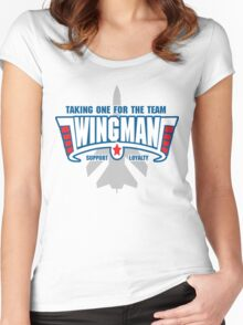 Wingman - Taking one for the team Women's Fitted Scoop T-Shirt
