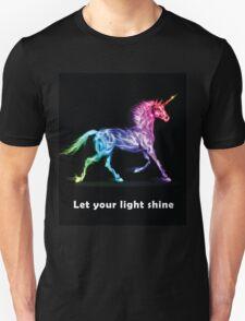 RAINBOW UNICORN BLACK T-Shirt