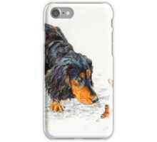 Cocker Spaniel and butterfly iPhone Case/Skin