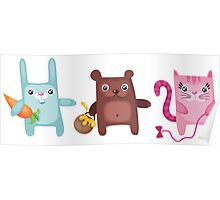 Bunny Bear Kitty Cuties Poster