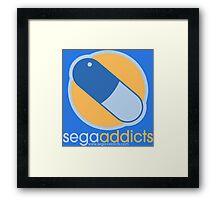 Sega Addicts - Classic Logo Framed Print
