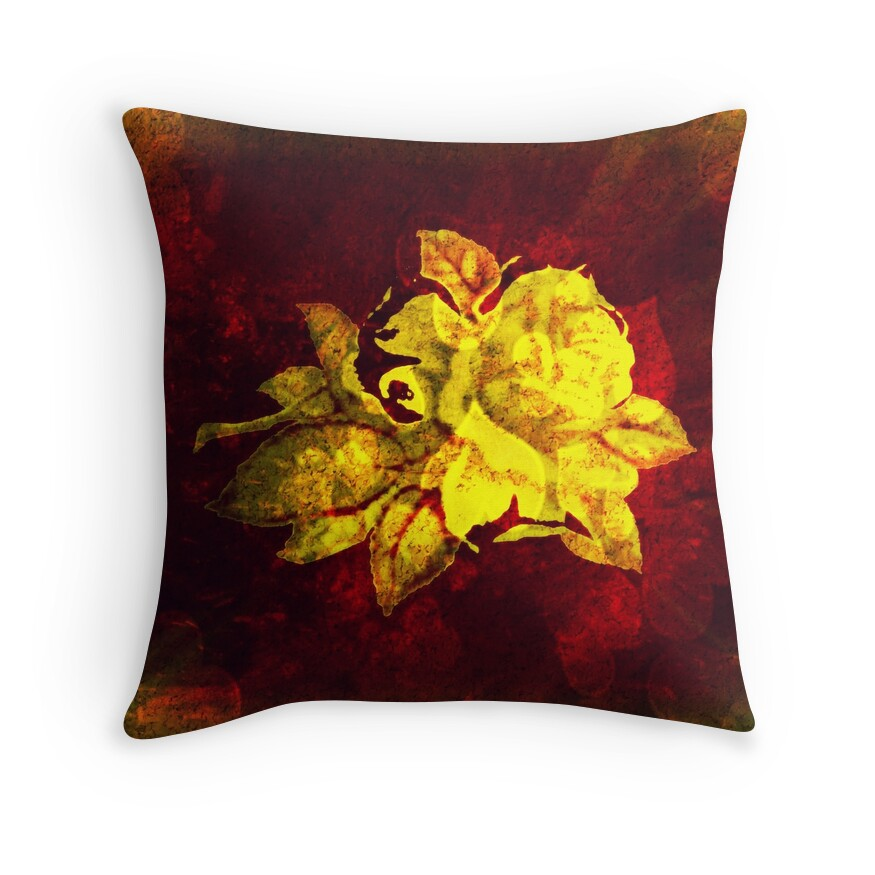 Big Yellow Throw Pillows :