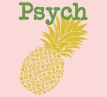 Minimalist Psych TV Show Pop Culture Lime Yellow Fun Green Pineapple One Piece - Short Sleeve