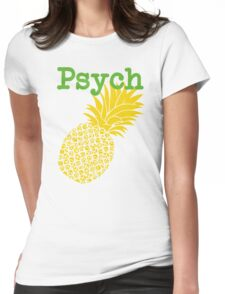 Minimalist Psych TV Show Pop Culture Lime Yellow Fun Green Pineapple Womens Fitted T-Shirt