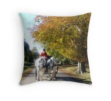 Horsewagon Throw Pillow