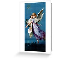 Angel of Peace Vintage Poster Restored Greeting Card