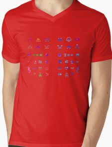 Metroid Enemies Mens V-Neck T-Shirt