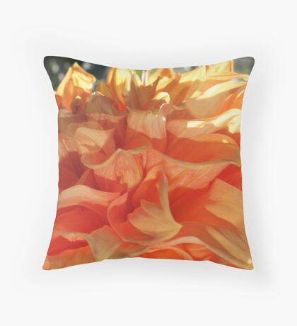 Peach Petals Throw Pillow