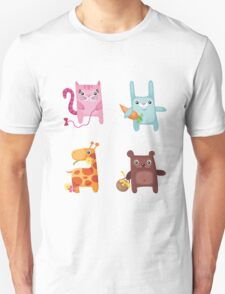 Kitty Bunny Giraffe Bear Cuties Unisex T-Shirt