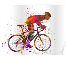 cyclist road bicycle Poster