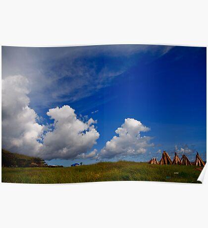 Clouds near Seseh Beach Poster