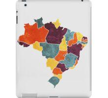 Brazil colour region map iPad Case/Skin
