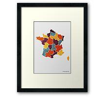 France colour region map Framed Print