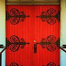 Church Doors in Elizabethtown, NY by Darlene Virgin