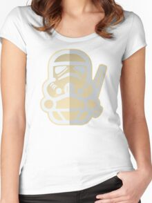 Cartoon Stormtrooper Star Wars Women's Fitted Scoop T-Shirt