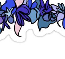 Flower Crown - Blue Sticker